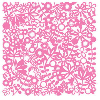 KI Memories - Pop Culture Collection - Lace Cardstock - Flower Child - Pinata - Pink