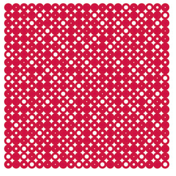 KI Memories - Pop Culture Collection - Lace Cardstock - Disco Ball - Red Hot
