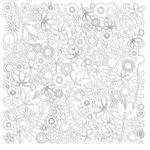 KI Memories - Pop Culture Collection - Lace Cardstock - Flower Child - White