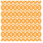 KI Memories - Pop Culture Collection - Lace Cardstock - Gossip - Hazard - Orange