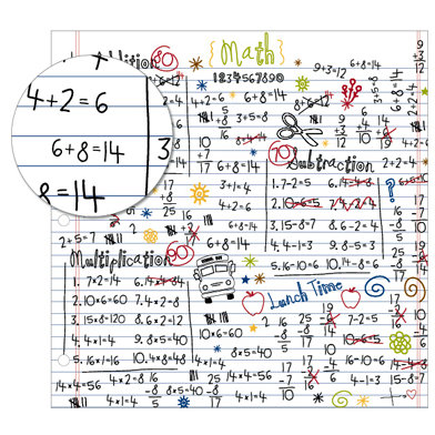 KI Memories - School Days Collection - 12 x 12 Frosty Patterns Paper - Scribbles