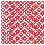 KI Memories - Glitter Lace Cardstock - Heartbeat Hottie, CLEARANCE