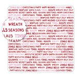 KI Memories - Sheer Delights - 12 x 12 Die Cut Plastic - Jolly Type, CLEARANCE
