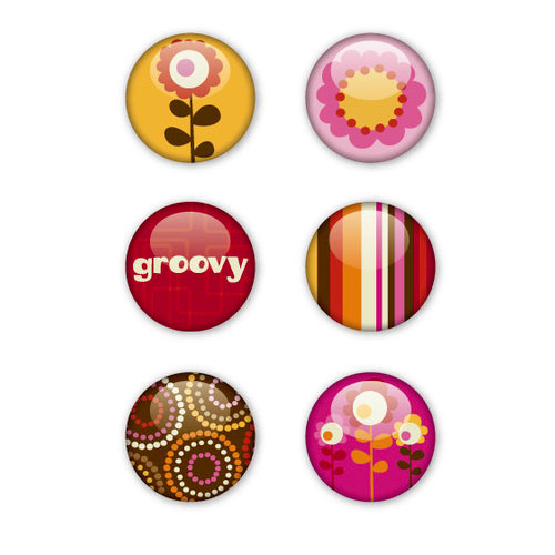 KI Memories - Groovy Collection - Metal Stickers - Badges