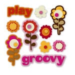 KI Memories - Groovy Collection - Rubber Stickers - Softies