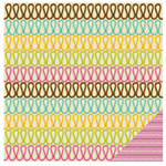 KI Memories - Sweet Life Collection - 12 x 12 Double Sided Paper - Ribbon