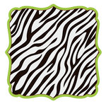 KI Memories - Wild Life Collection - 12 x 12 Die Cut Paper - Zebra Stripes