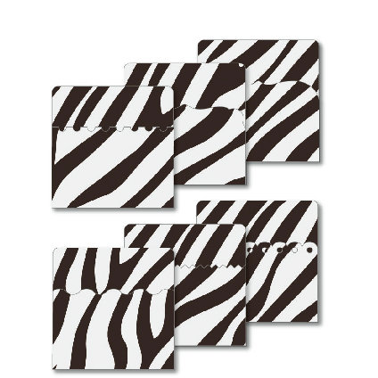 KI Memories - Designer Keepsake Holders - 3 x 3 Pockets - Zebra