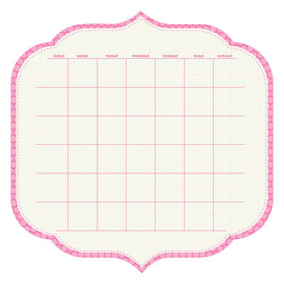 KI Memories - Sew Cute Calendars Collection - 12 x 12 Double Sided Die Cut Paper - Stiletto