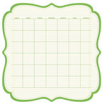 KI Memories - Sew Cute Calendars Collection - 12 x 12 Double Sided Die Cut Paper - Leafy
