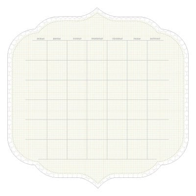 KI Memories - Sew Cute Calendars Collection - 12 x 12 Double Sided Die Cut Paper - Snow
