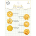 KI Memories - Clip Art - Button Adorned Paper Clips - Daisy