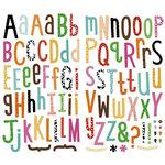 KI Memories - Hip Chip - Alphabet Chipboard Stickers - Rainbow Prints