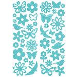 KI Memories - Sticklers - Glitter Stickers - Flutter Icons - Blue