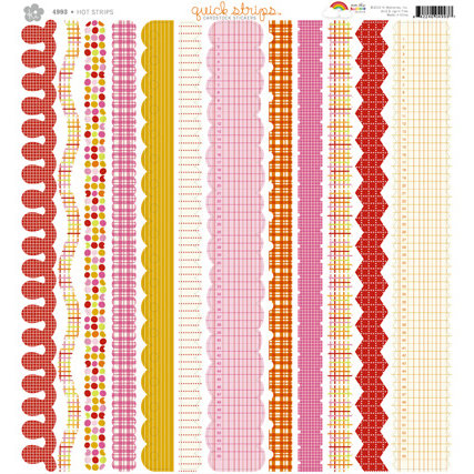 KI Memories - Over the Rainbow Collection - 12 x 12 Cardstock Stickers - Quick Strips - Hot