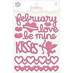 KI Memories - Frosting - 3 Dimensional Puffy Stickers - February