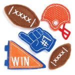 KI Memories - Puffies Collection - 3 Dimensional Fabric Stickers - Football