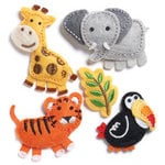 KI Memories - Puffies Collection - 3 Dimensional Fabric Stickers - Zoo