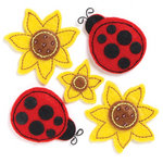 KI Memories - Puffies Collection - 3 Dimensional Fabric Stickers - Picnic