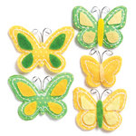 KI Memories - Puffies Collection - 3 Dimensional Fabric Stickers - Flutter - Yellow