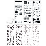 KI Memories - Special Edition - Clear Acrylic Stamp Set with Stamp Block - Alphabets and Greetings