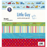 KI Memories - 12 x 12 Specialty Cardstock Paper Pack with Foil - Little Guy, BRAND NEW