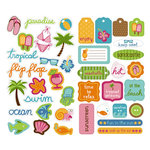 KI Memories - Embellishment Boutique - Chipboard Stickers - Hip Chip Accents - Beach