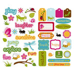KI Memories - Embellishment Boutique - Chipboard Stickers - Hip Chip Accents - Playful, CLEARANCE