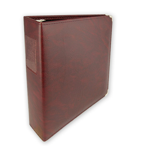 Umbrella Crafts - 3 Ring Memory Albums - 12 x 12 - Burgundy Diablo