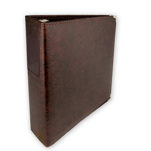 Keeping Memories Alive 3 Ring Memory Albums - 8.5 x 11 - Walnut