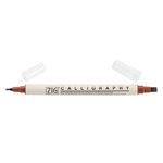 Kuretake - ZIG - Memory System - Dual Tip Calligraphy Marker - Pure Brown