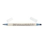 Kuretake - ZIG - Memory System - Dual Tip Calligraphy Marker - Steel Gray