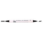 Kuretake - ZIG - Memory System - Dual Tip Scroll and Brush Marker - Pure Black