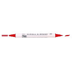 Kuretake - ZIG - Memory System - Dual Tip Scroll and Brush Marker - Pure Red