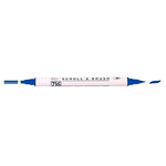 Kuretake - ZIG - Memory System - Dual Tip Scroll and Brush Marker - Pure Blue