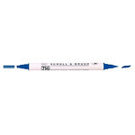 Kuretake - ZIG - Memory System - Dual Tip Scroll and Brush Marker - Navy