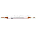 Kuretake - ZIG - Memory System - Dual Tip Scroll and Brush Marker - Pure Brown