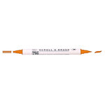 Kuretake - ZIG - Memory System - Dual Tip Scroll and Brush Marker - Pure Orange
