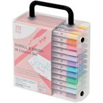 Kuretake - ZIG - Memory System - Dual Tip Scroll and Brush Marker - 48 Piece Set