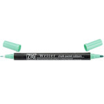 Kuretake - ZIG - Memory System - Dual Tip Writer Marker - Chalk Pastel Colors - Green