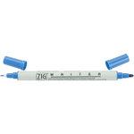 Kuretake - ZIG - Memory System - Dual Tip Writer Marker - Blue Jay