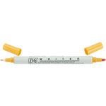 Kuretake - ZIG - Memory System - Dual Tip Writer Marker - Apricot