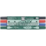 Kuretake - ZIG - Memory System - Dual Tip Writer Marker - 4 Piece Set