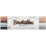 Kuretake - ZIG - Memory System - Dual Tip Brushables Marker - 4 Piece Set - Brown