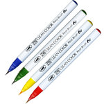 Kuretake - ZIG - Clean Color - Real Brush Marker - 4 Piece Set - Pure