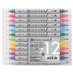 Kuretake - ZIG - Clean Color - Real Brush Marker - 12 Piece Set