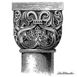 LaBlanche - Medieval Ornament Collection - Foam Mounted Silicone Stamp - Column Design 4