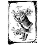 LaBlanche - Christmas Collection - Foam Mounted Silicone Stamp - Santa with Letter in Frame