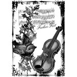 LaBlanche - Christmas Collection - Foam Mounted Silicone Stamp - Sparrow and Violine