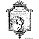 LaBlanche - Artist Trading Card Collection - Foam Mounted Silicone Stamp - Frame with Woman's Head